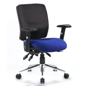 Chiro Medium Back Bespoke Colour Seat Stevia Blue