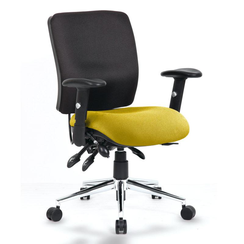 Chiro Medium Back Bespoke Colour Seat Senna Yellow