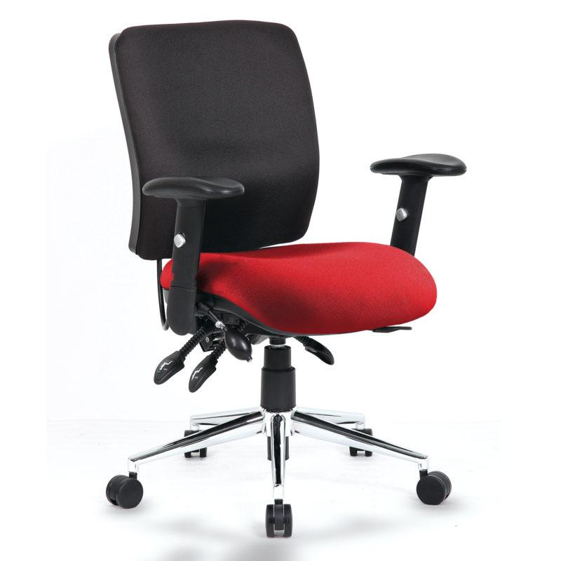 Chiro Medium Back Bespoke Colour Seat Gingseng Chilli