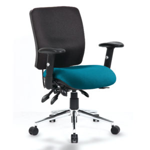 Chiro Medium Back Bespoke Colour Seat Maringa Teal