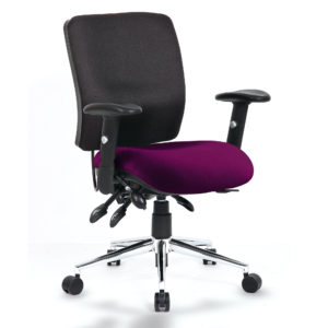 Chiro Medium Back Bespoke Colour Seat Tansy Purple
