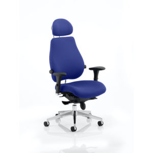 Chiro Plus Ultimate With Headrest Bespoke Colour Stevia Blue