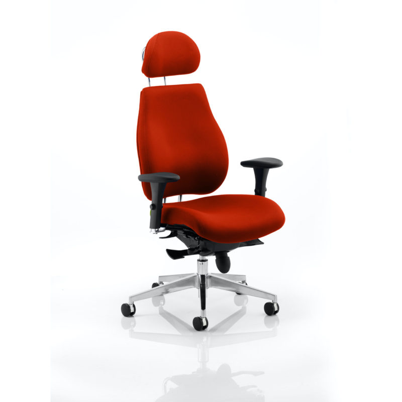 Chiro Plus Ultimate With Headrest Bespoke Colour Tabasco Red