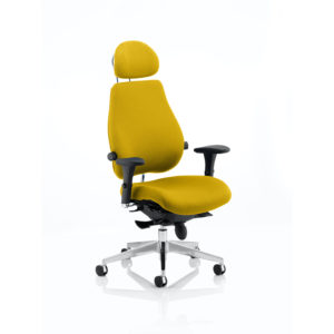 Chiro Plus Ultimate With Headrest Bespoke Colour Senna Yellow