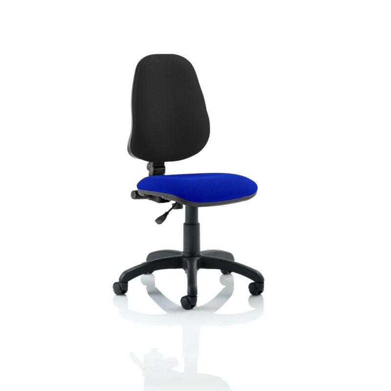 Eclipse I Lever Task Operator Chair Bespoke Colour Seat Stevia Blue