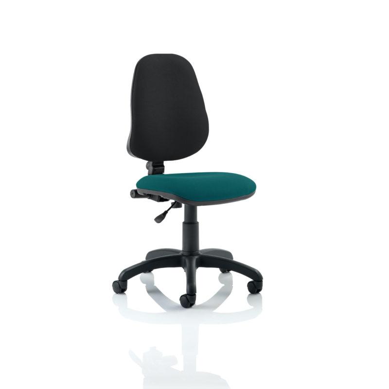 Eclipse I Lever Task Operator Chair Bespoke Colour Seat Maringa Teal