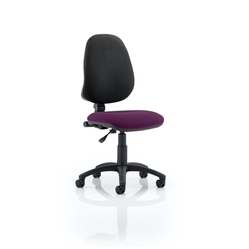Eclipse I Lever Task Operator Chair Bespoke Colour Seat Tansy Purple