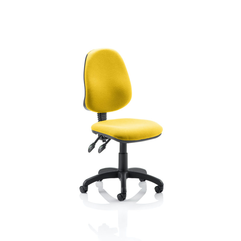 Eclipse II Lever Task Operator Chair Bespoke Colour Senna Yellow