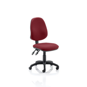 Eclipse II Lever Task Operator Chair Bespoke Colour Gingseng Chilli