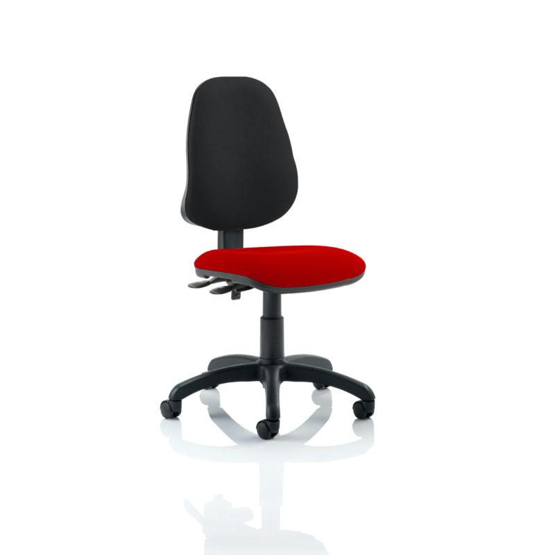 Eclipse II Lever Task Operator Chair Bespoke Colour Seat Bergamot Cherry