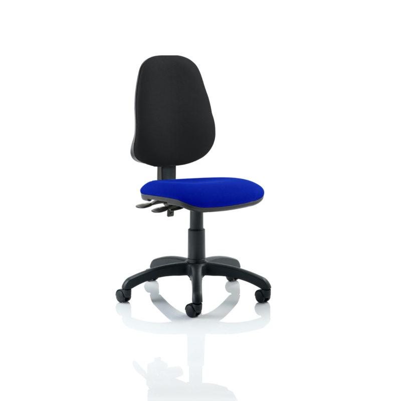 Eclipse II Lever Task Operator Chair Bespoke Colour Seat Stevia Blue