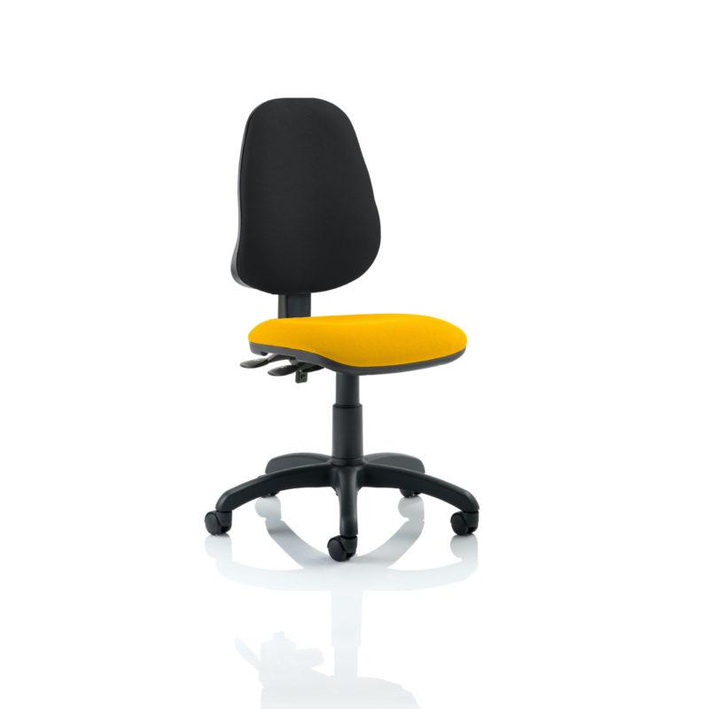 Eclipse II Lever Task Operator Chair Bespoke Colour Seat Senna Yellow
