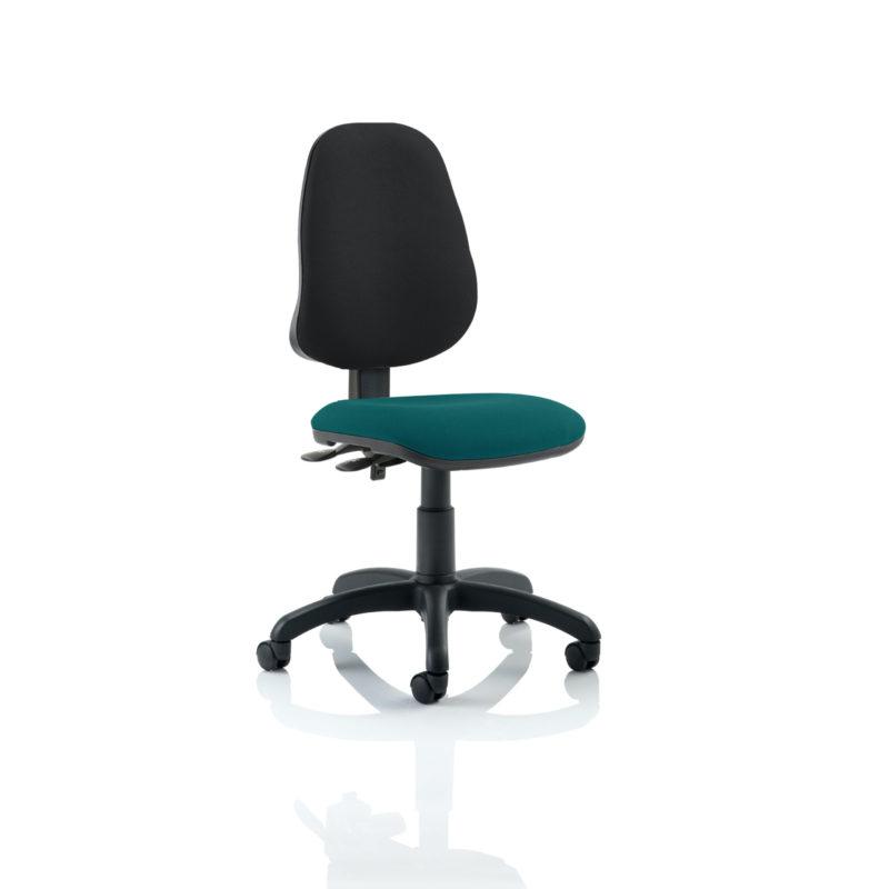 Eclipse II Lever Task Operator Chair Bespoke Colour Seat Maringa Teal