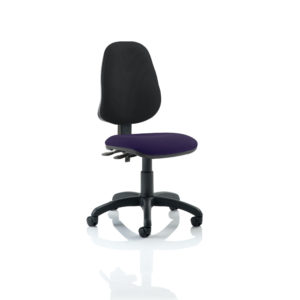 Eclipse II Lever Task Operator Chair Bespoke Colour Seat Tansy Purple