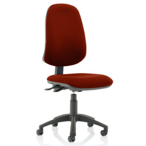 Eclipse XL Lever Task Operator Chair Bespoke Colour Gingseng Chilli