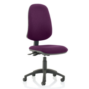 Eclipse XL Lever Task Operator Chair Bespoke Colour Tansy Purple