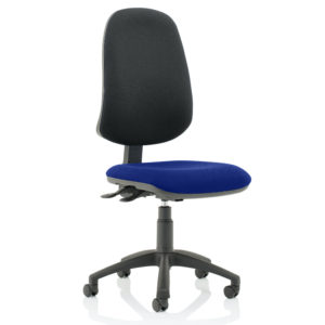 Eclipse XL Lever Task Operator Chair Bespoke Colour Seat Stevia Blue