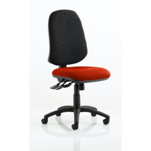 Eclipse XL Lever Task Operator Chair Bespoke Colour Seat Tabasco Red