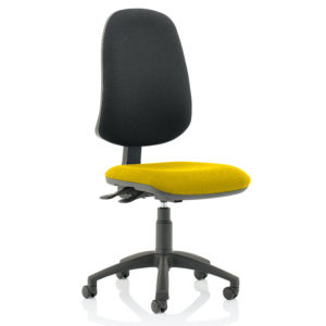 Eclipse XL Lever Task Operator Chair Bespoke Colour Seat Senna Yellow