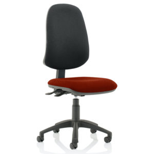 Eclipse XL Lever Task Operator Chair Bespoke Colour Seat Gingseng Chilli