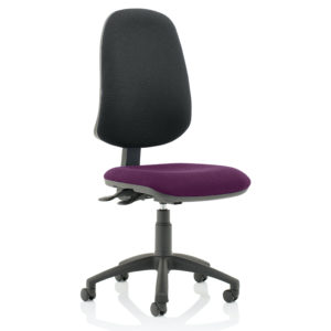 Eclipse XL Lever Task Operator Chair Bespoke Colour Seat Tansy Purple