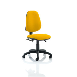 Eclipse III Lever Task Operator Chair Bespoke Colour Senna Yellow