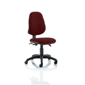 Eclipse III Lever Task Operator Chair Bespoke Colour Gingseng Chilli