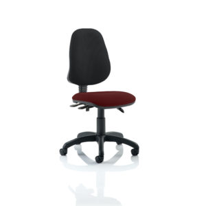 Eclipse III Lever Task Operator Chair Bespoke Colour Seat Gingseng Chilli