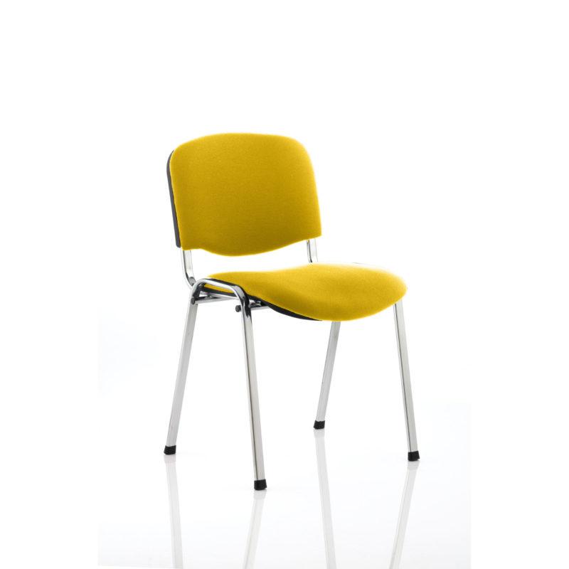 ISO Chrome Frame Bespoke Colour Fabric - (Min Order Qty X 4) Senna Yellow