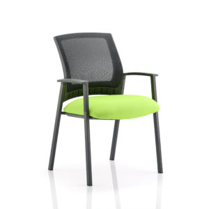Metro Visitor Chair Bespoke Colour Seat Myrhh Green