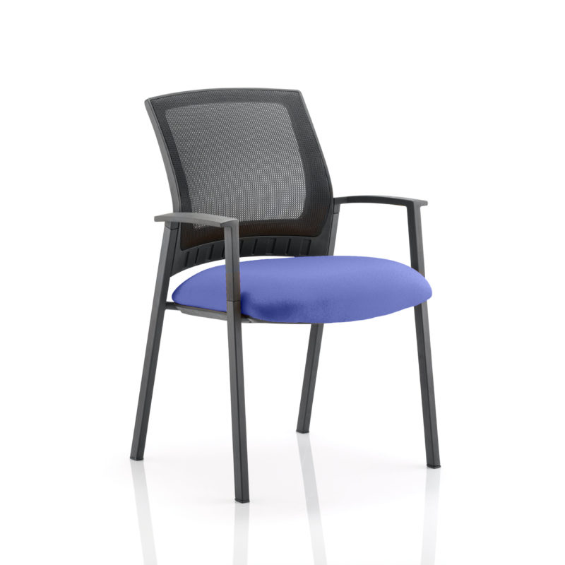 Metro Visitor Chair Bespoke Colour Seat Stevia Blue