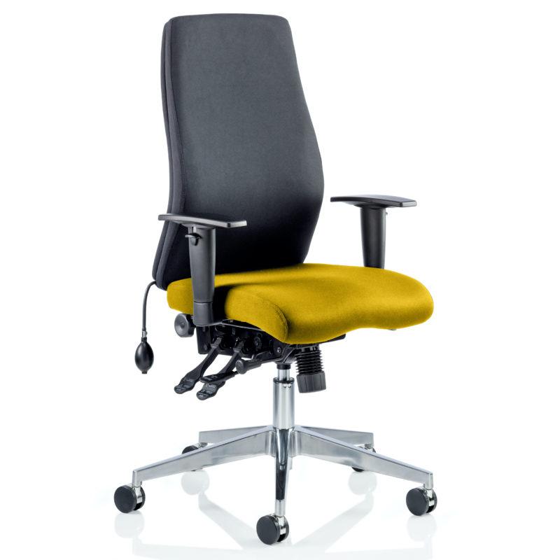 Onyx Bespoke Colour Seat Without Headrest Senna Yellow