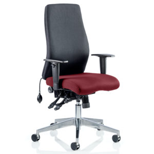 Onyx Bespoke Colour Seat Without Headrest Gingseng Chilli