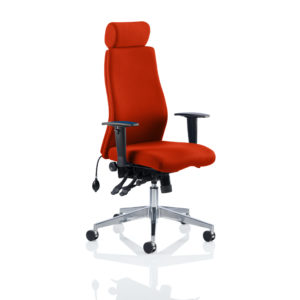 Onyx Bespoke Colour With Headrest Tabasco Red