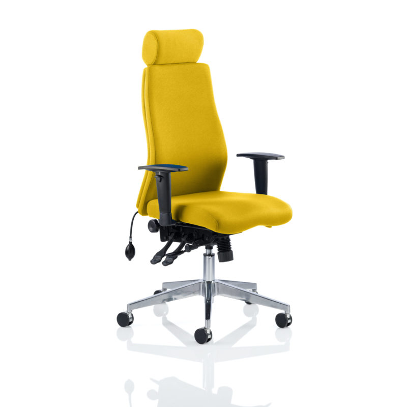 Onyx Bespoke Colour With Headrest Senna Yellow