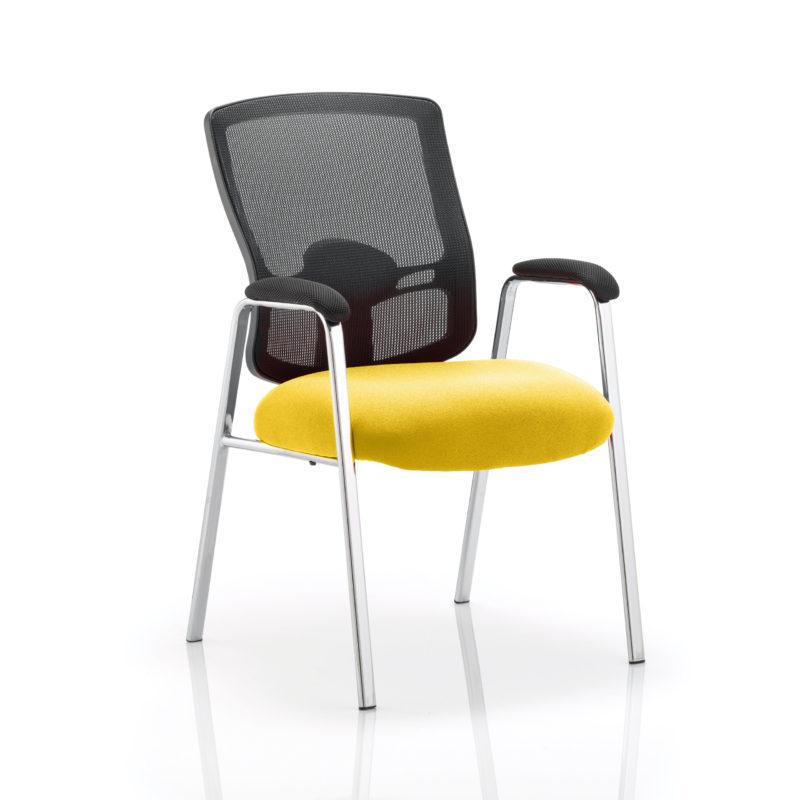 Portland Visitor (Straight Leg) Bespoke Colour Seat Senna Yellow