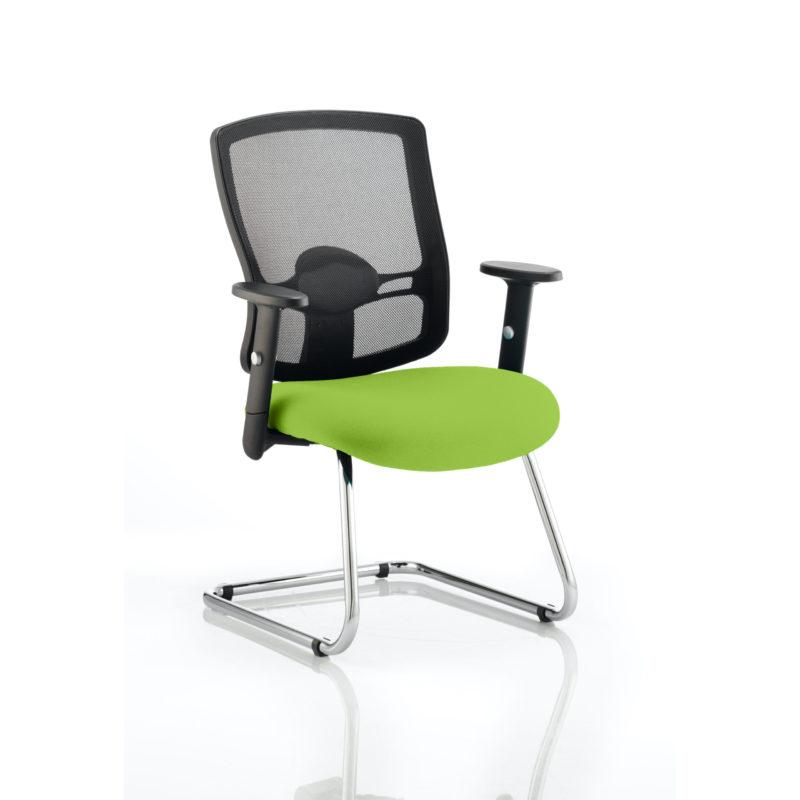 Portland Cantilever Bespoke Colour Seat Myrhh Green