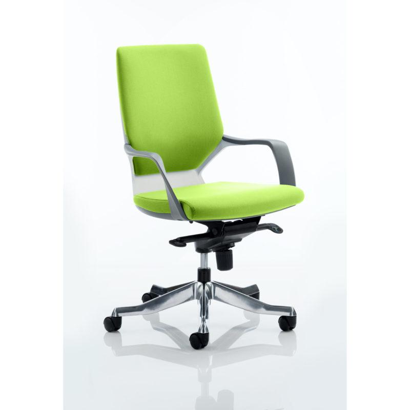 Xenon Executive White Shell Medium Back Bespoke Colour Myrhh Green