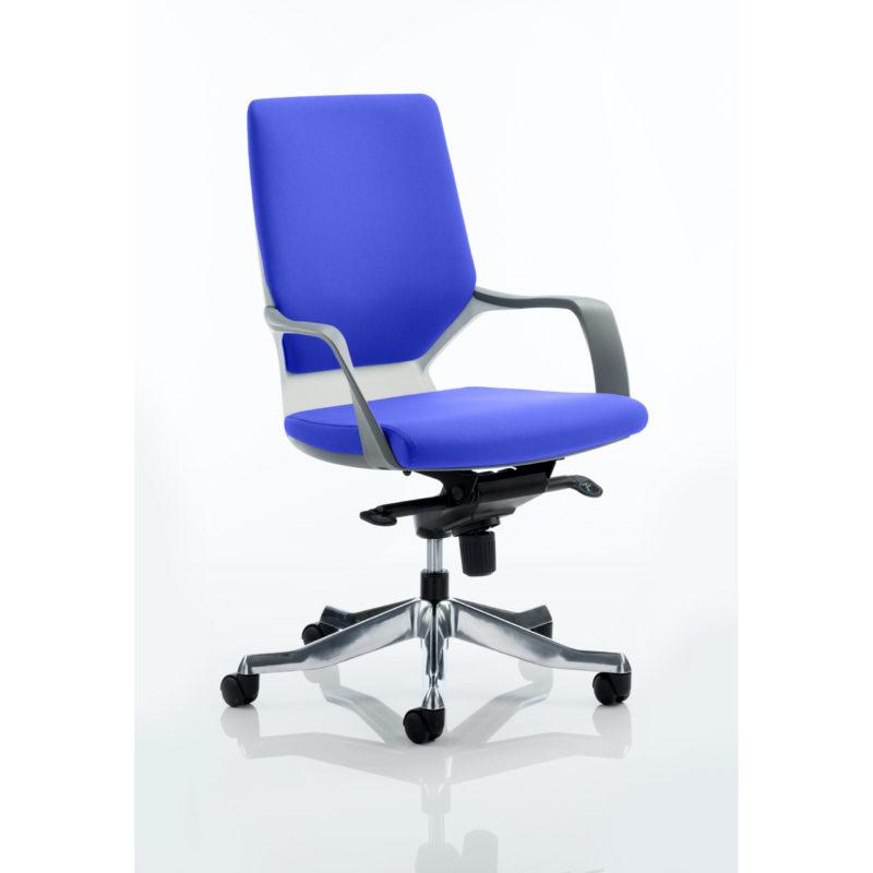 Xenon Executive White Shell Medium Back Bespoke Colour Stevia Blue