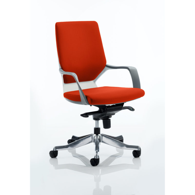 Xenon Executive White Shell Medium Back Bespoke Colour Tabasco Red