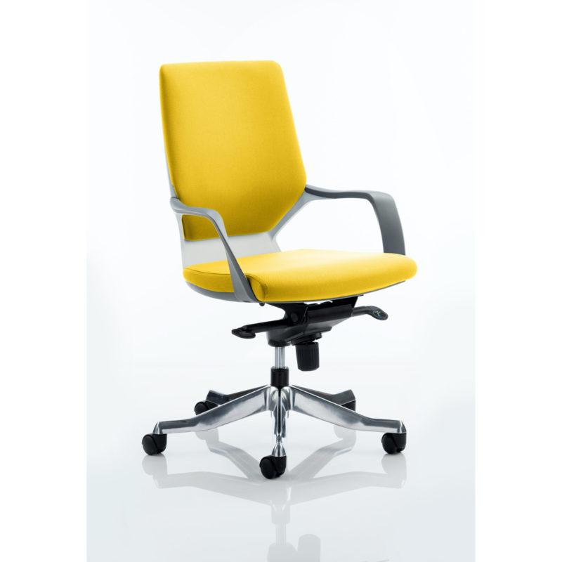 Xenon Executive White Shell Medium Back Bespoke Colour Senna Yellow