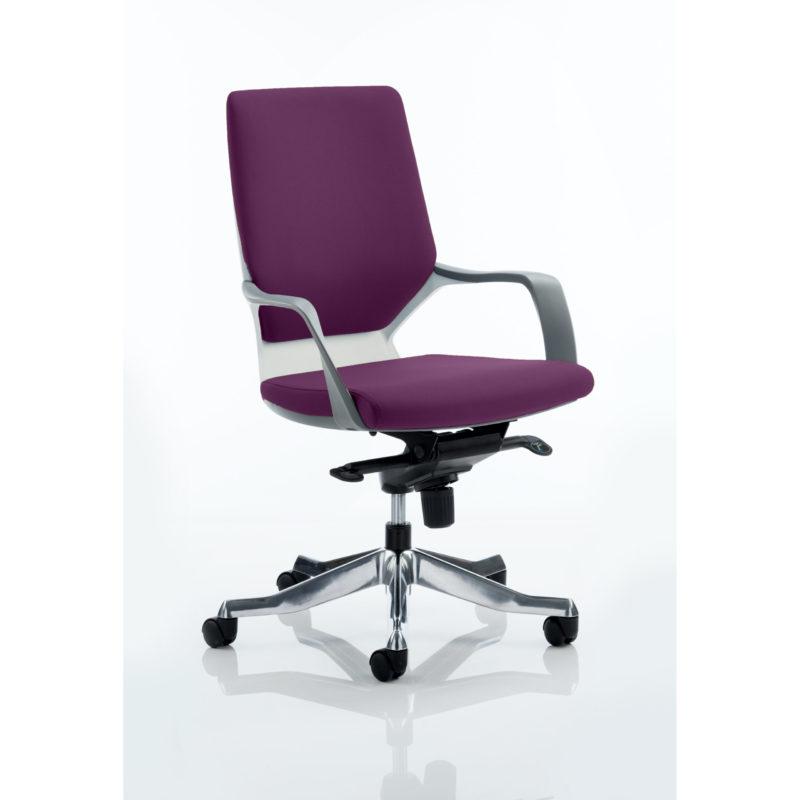 Xenon Executive White Shell Medium Back Bespoke Colour Tansy Purple