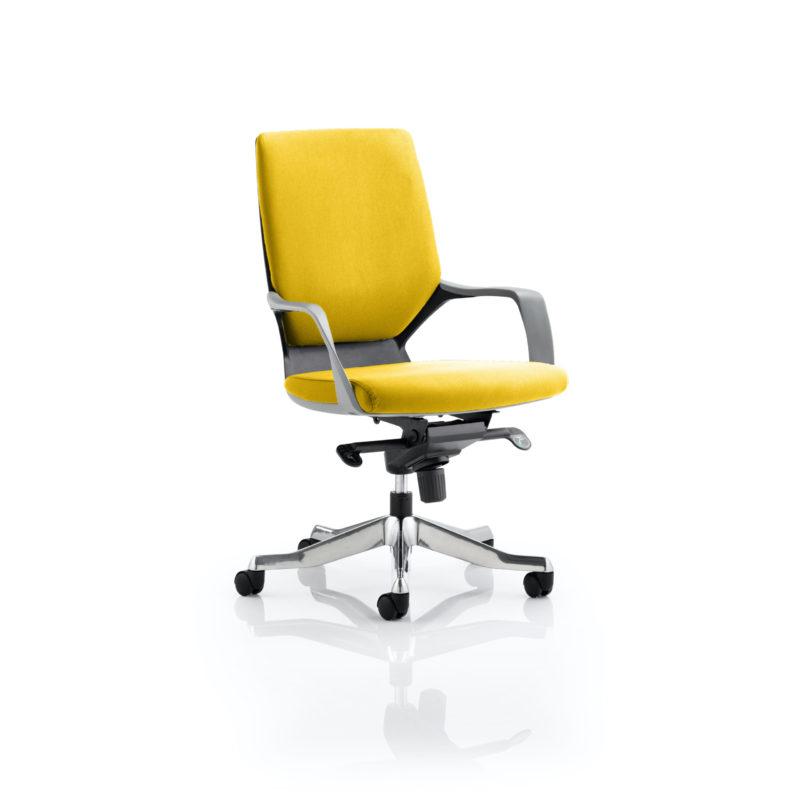 Xenon Executive Black Shell Medium Back Bespoke Colour Senna Yellow