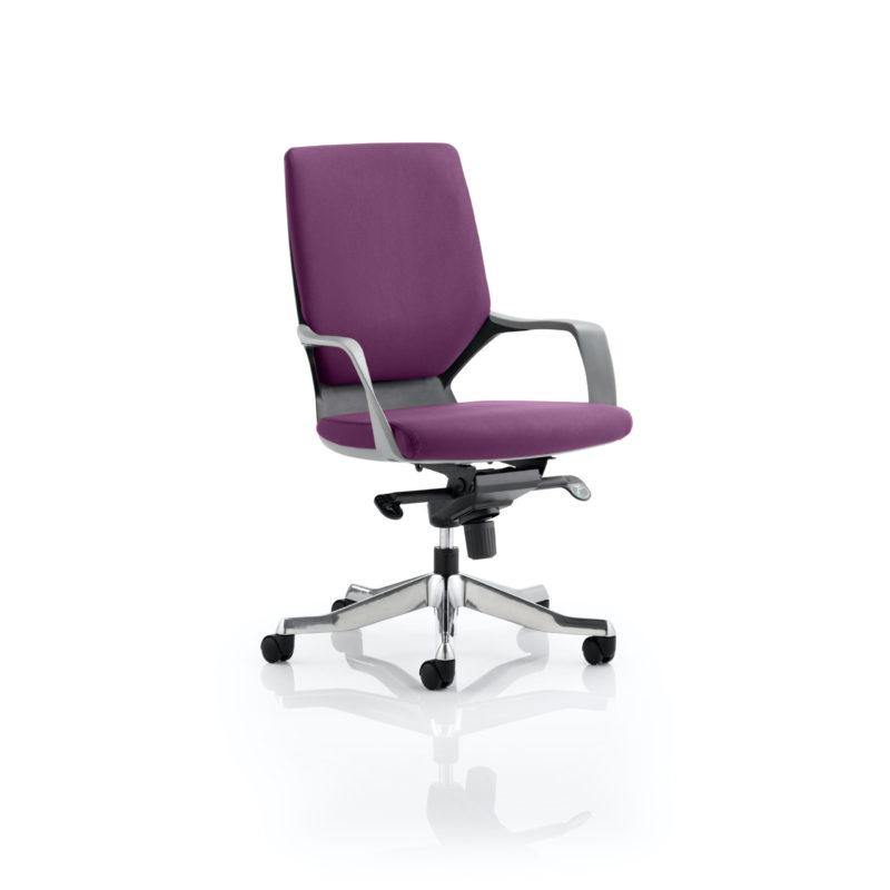 Xenon Executive Black Shell Medium Back Bespoke Colour Tansy Purple