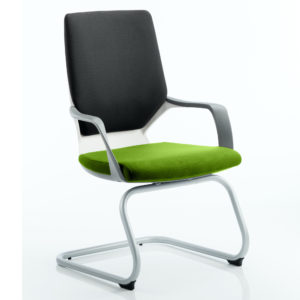 Xenon Visitor White Shell Bespoke Colour Seat Myrhh Green