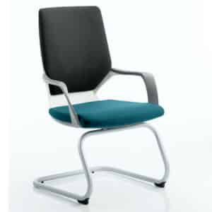 Xenon Visitor White Shell Bespoke Colour Seat Maringa Teal