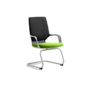 Xenon Visitor Black Shell Bespoke Colour Seat Myrhh Green