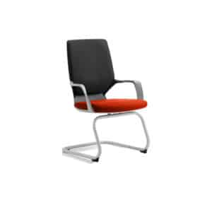 Xenon Visitor Black Shell Bespoke Colour Seat Tabasco Red