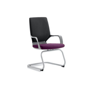 Xenon Visitor Black Shell Bespoke Colour Seat Tansy Purple