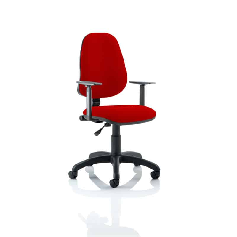 Eclipse I Lever Task Operator Chair Bespoke With Height Adjustable Arms In Bergamot Cherry